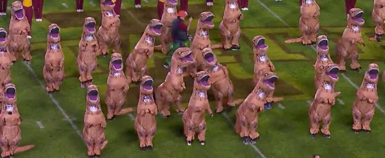 Iowa State Dancing Dinosaur Halftime Show Video