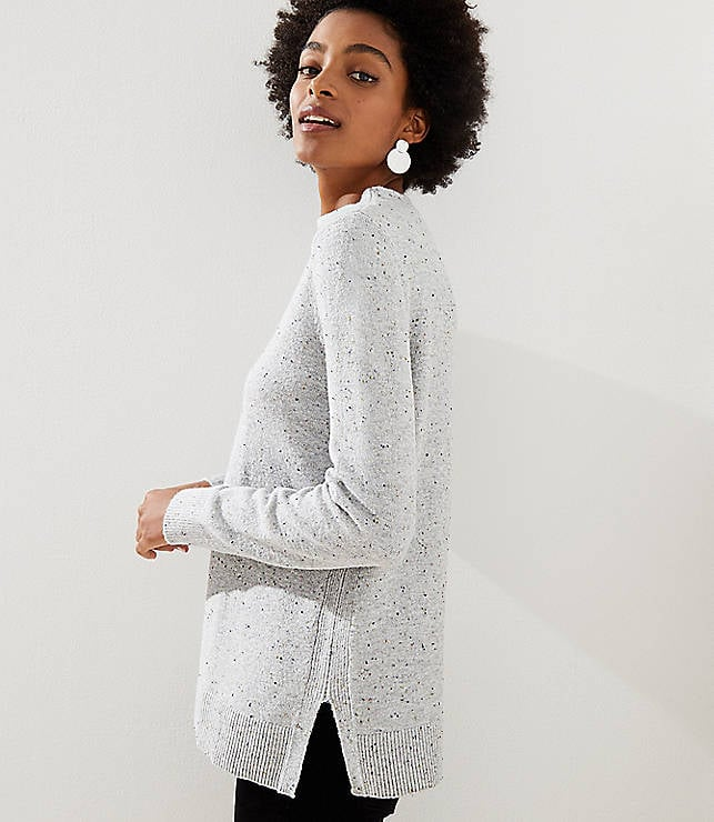 e6f49bce809 Loft Flecked Mock Neck Tunic Sweater | Comfortable Sweaters For ...