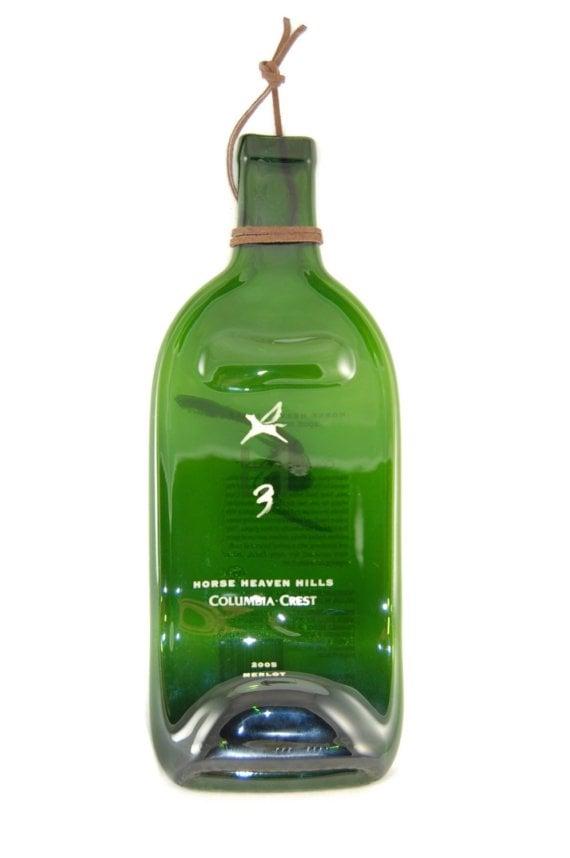 Upcycled Horse Wine Bottle