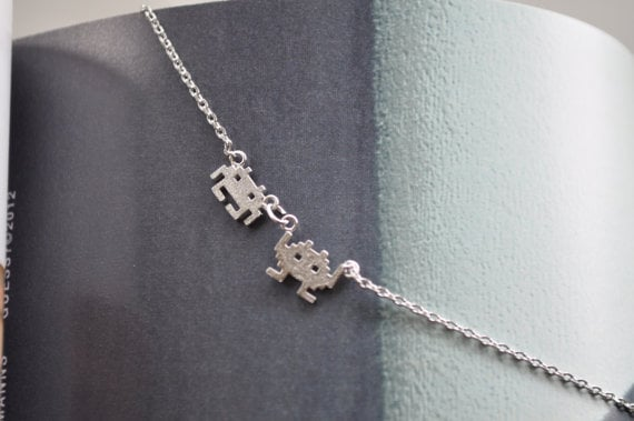 Pixel Robot Necklace ($22)
