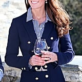 Gap shirts are a staple of Kate's wardrobe, and she has worn various designs in public, as well as this $52 gingham print for a trip to a vineyard in New Zealand.