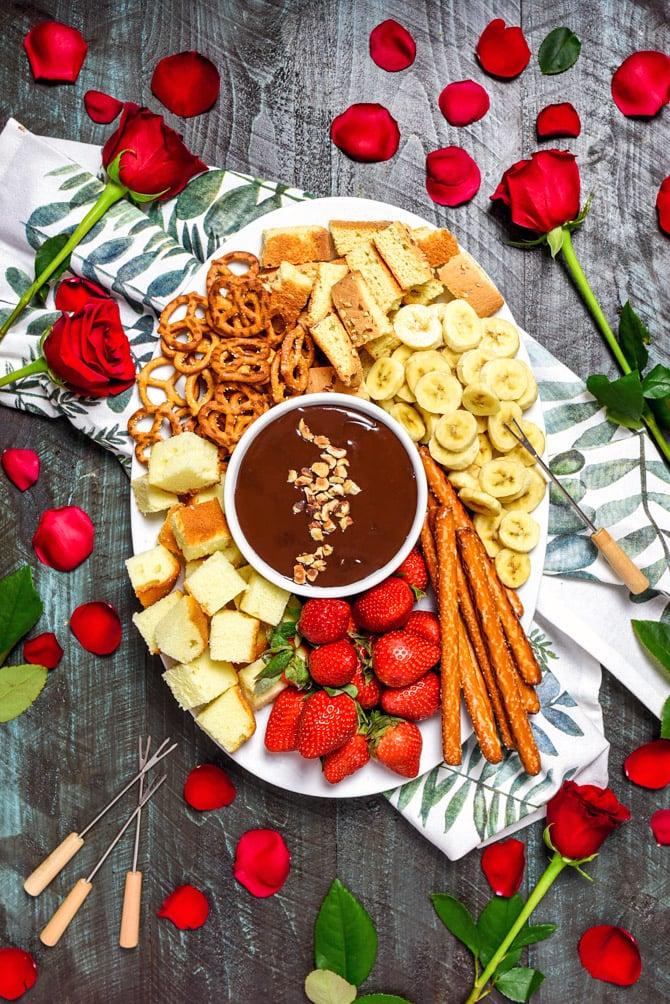 Boozy Chocolate Hazelnut Fondue