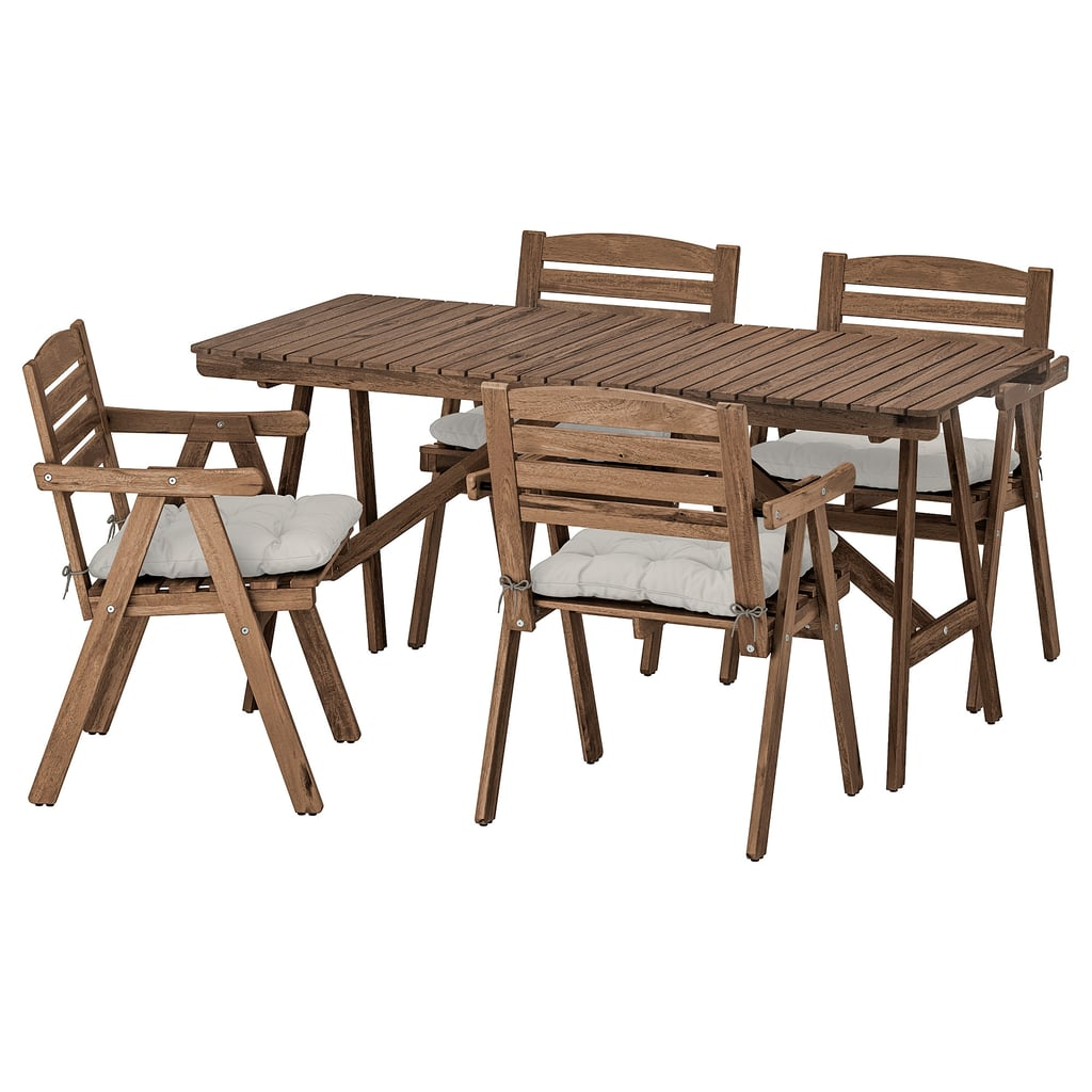 Falholmen Table With 4 Armchairs