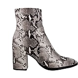 Tony Bianco Brazen Natural Snake Ankle Boots ($219.95)