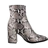Tony Bianco Brazen Natural Snake Ankle Boots ($219.95)