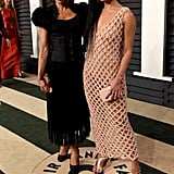 Zoe Kravitz and her lookalike mom, Lisa Bonet, stunned on the red carpet at the Vanity Fair Oscars afterparty.