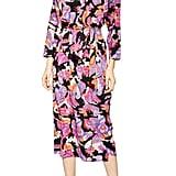 Topshop Belted V-Neck Long-Sleeved Midi Dress