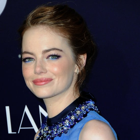 Emma Stone Glitter Eye Makeup at La La Land Premier LA 2016