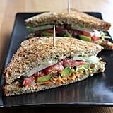 Lunch: Veggie and Hummus Sandwich
