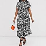 ASOS Design Curve Cowl Neck Tie Waist Maxi Dress