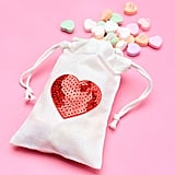 DIY Sequin Heart Treat Bags