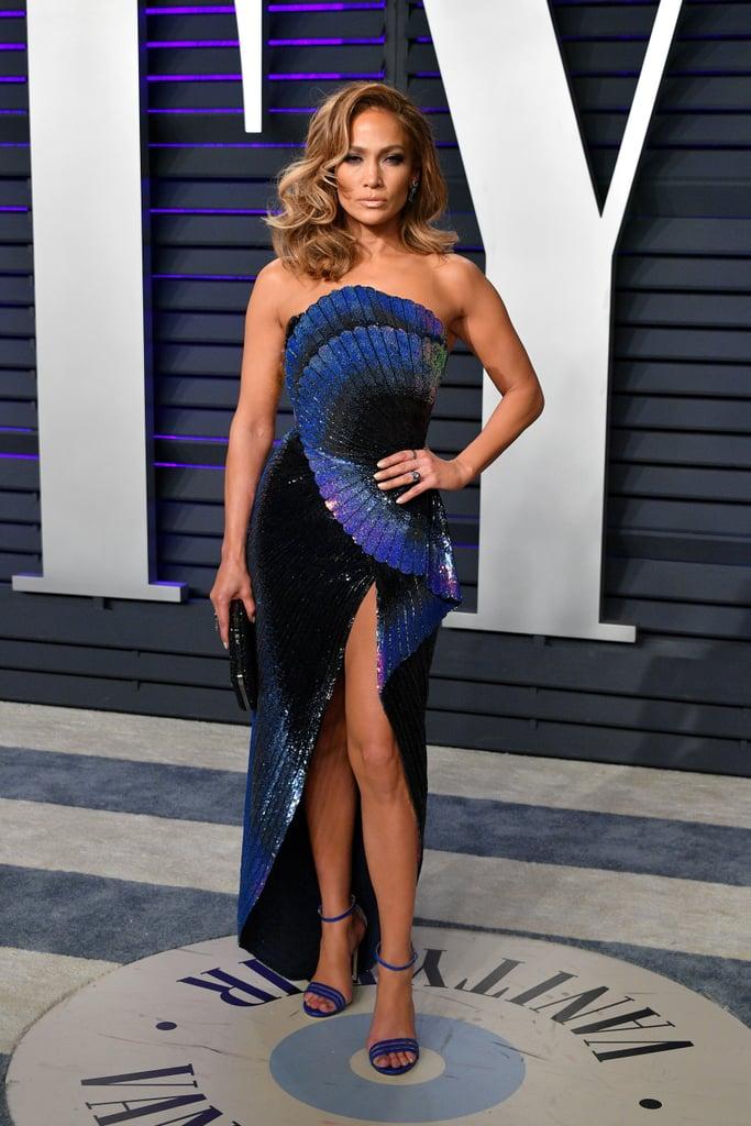 Jennifer Lopez Wearing Zuhair Murad to the 2019 Vanity Fair Oscar Party