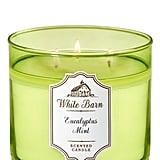 Bath and Body Works White Barn Eucalyptus Mint 3-Wick Candle