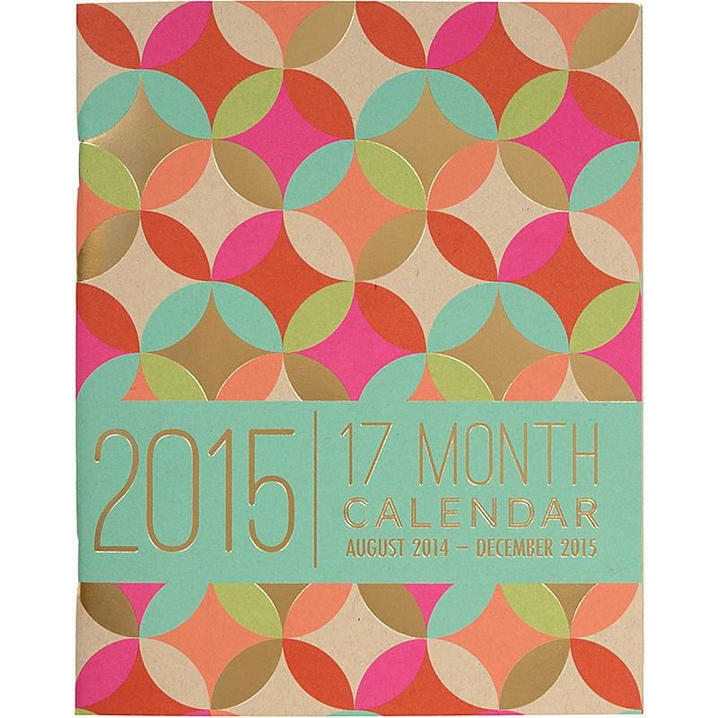 2015 paper source academic booklet gold foil 17 month calendar 15