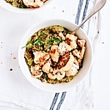 Vegan: Curried Coconut Quinoa and Greens With Roasted Cauliflower