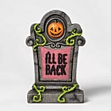 Lit I'll Be Back Halloween Tombstone Décor