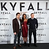 Naomie Harris surrounded herself with her handsome Skyfall costars.