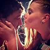 Sophie Turner looked ready to kiss her Game of Thrones costar Pedro Pascal when Natalie Dormer took this picture. Source: Instagram user sophie_789