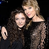 Pals Lorde and Taylor Swift embraced for a photo.
