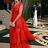 Hilary Swank arrived at the Vanity Fair Oscar party on Sunday night.