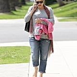 Jennifer Garner left an appointment in Santa Monica.