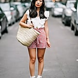 Add a finishing touch to a cute gingham look.