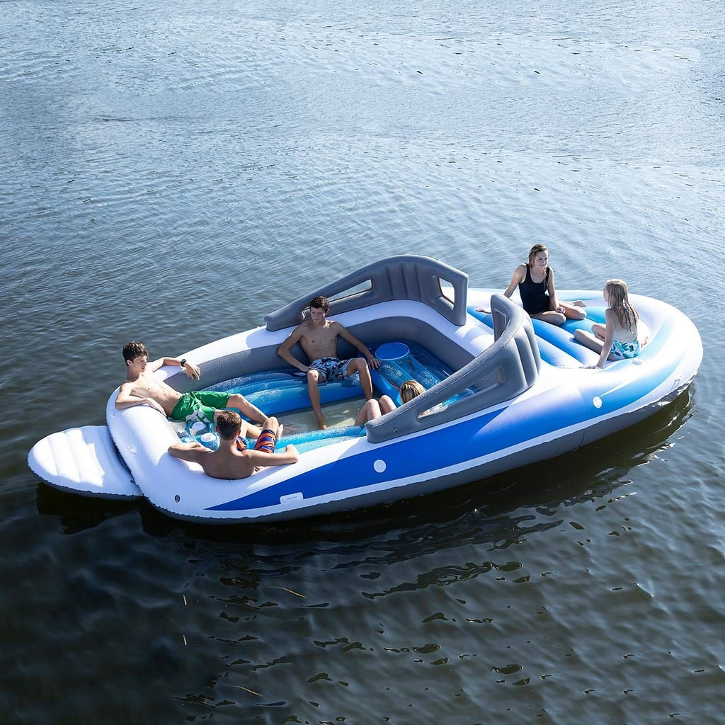 This 20-Foot Inflatable Boat Is Too Big For the Pool, but It's Just the Right Amount of Extra