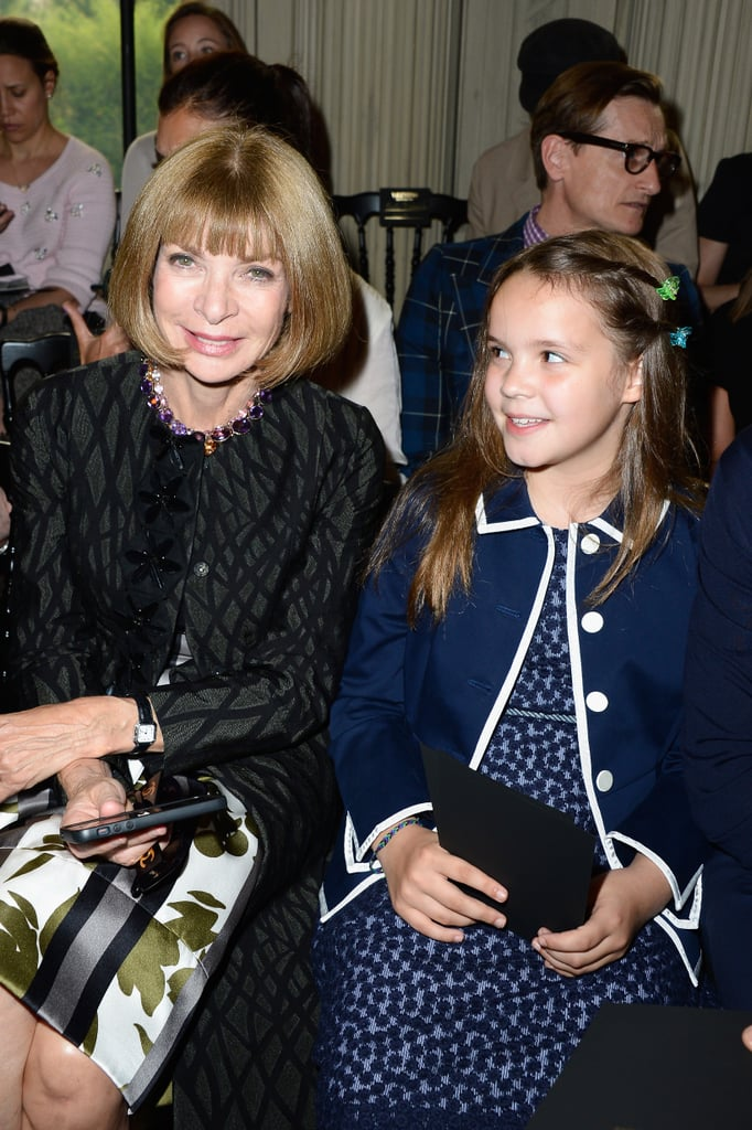 Anna Wintour sat next to Baz Luhrmann's daughter Lillian at the Valentino show on Wednesday.