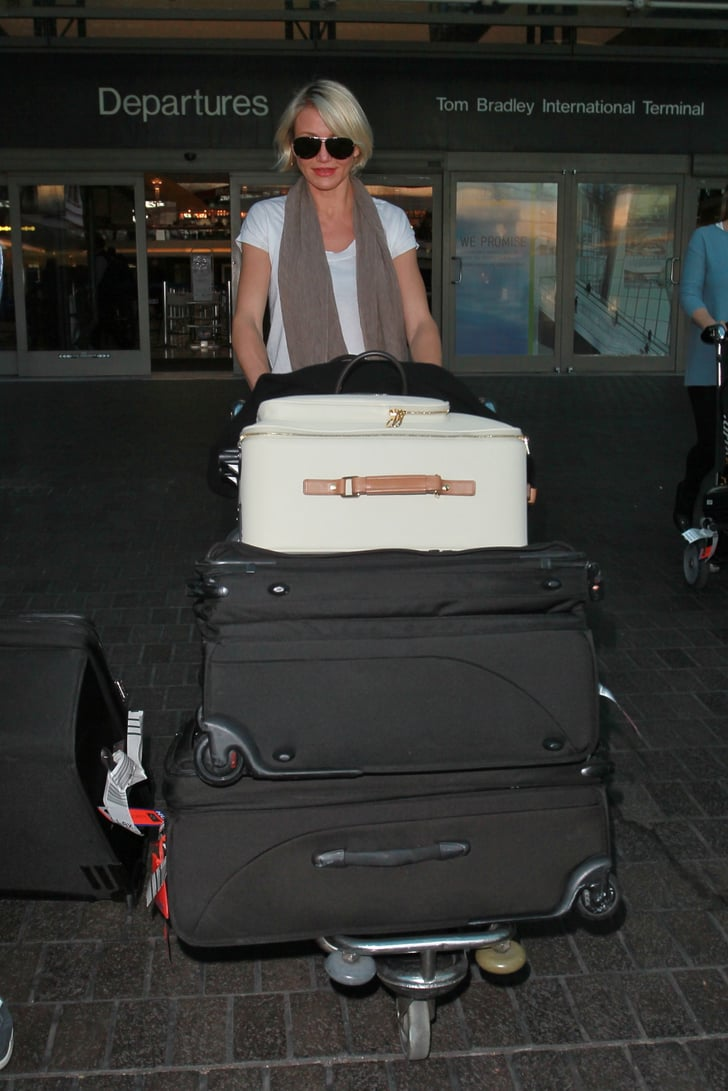 Cameron Diaz touched down at LAX.