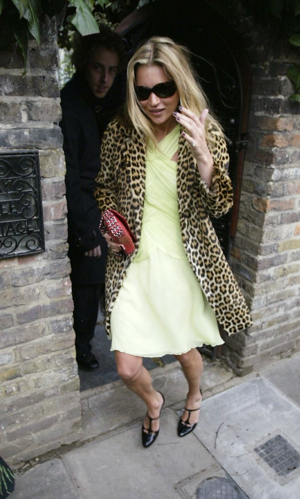 Kate donning a yellow and leopard combo — no complaints here.