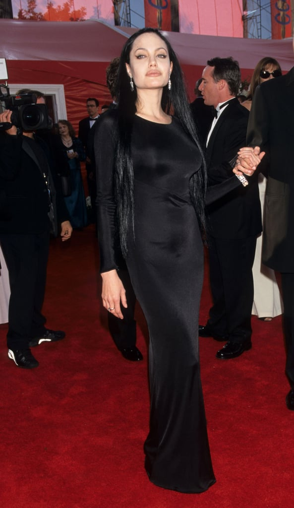 At the 2000 Academy Award wearing Versace.