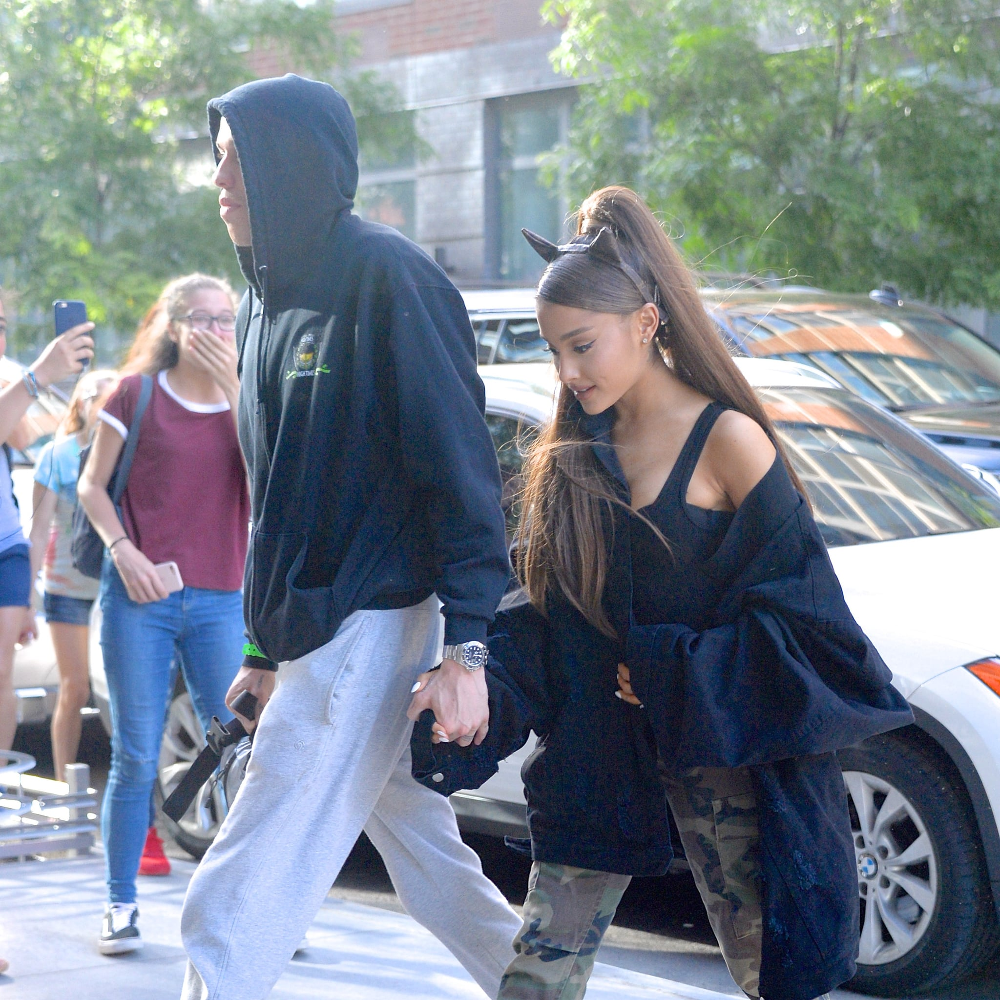 NEW YORK, NY - JUNE 25:  Ariana Grande and Pete Davidson seen out and about in Manhattan on  June 25, 2018 in New York City.  (Photo by Robert Kamau/GC Images)