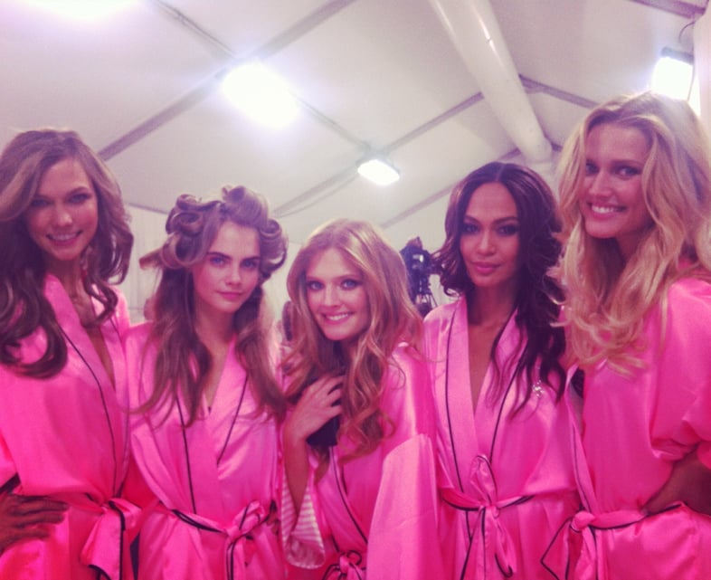 Karlie Kloss posed for a photo with her fellow Angels. Source: Karlie Kloss on WhoSay