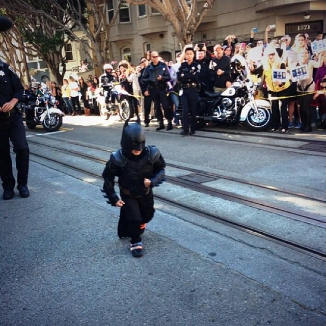 Batkid to the rescue!  Source: Instagram user shannonnolde