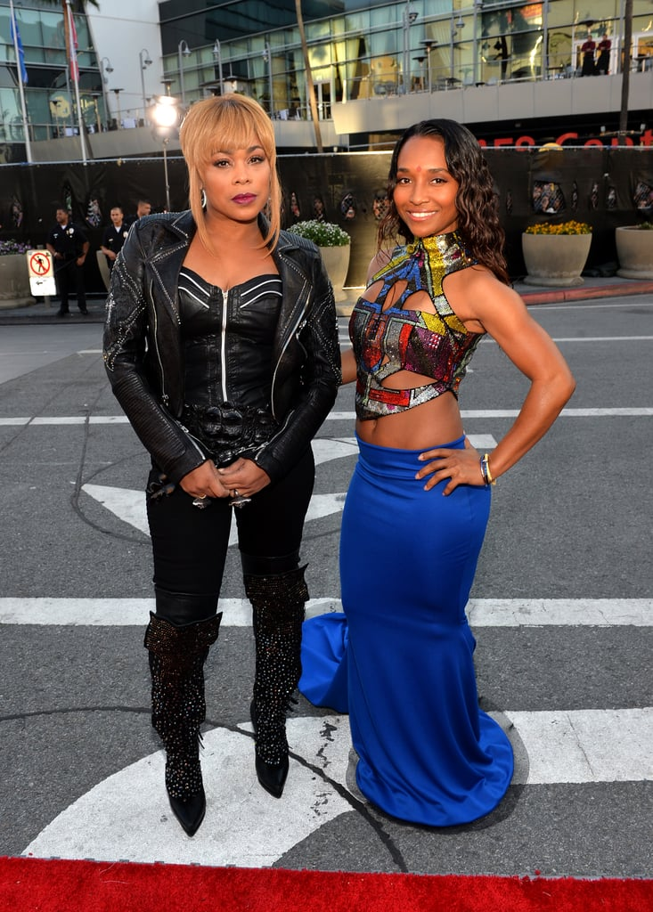 T-Boz and Chili arrived together at the American Music Awards.