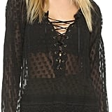 Haute Hippie Lace Up Blouse ($395)