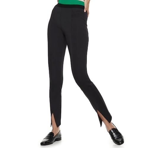 Nine West Pull-On High-Waisted Skinny Scuba Pants