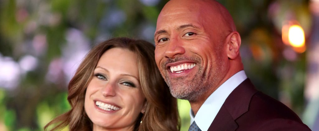Lauren Hashian Debuts Her Adorable Baby Bump at the Jumanji Premiere With Dwayne Johnson