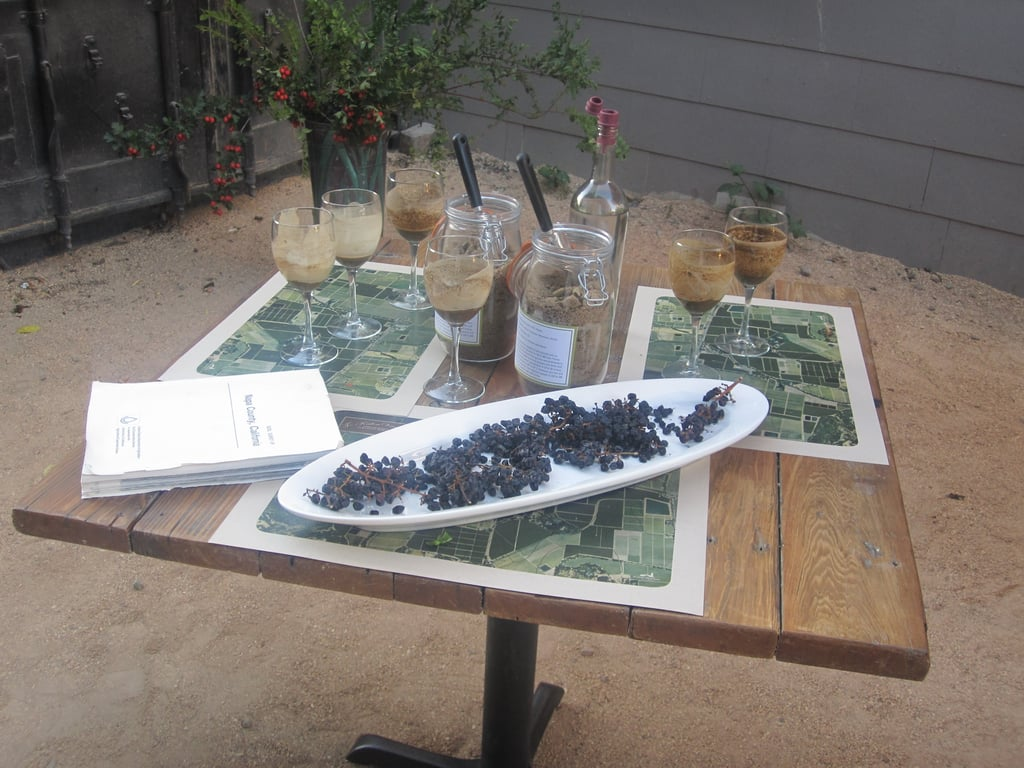 Pictures From a Soil Tasting Hosted by Robert Mondavi at Saison