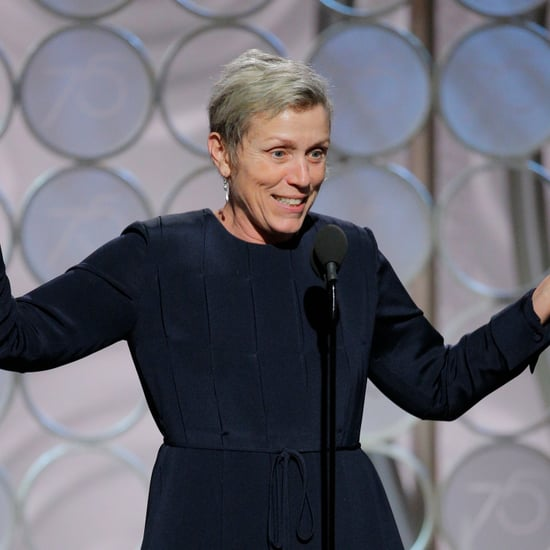 Frances McDormand No Makeup at the 2018 Golden Globes