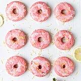 Strawberry-Lemonade Baked Cake Doughnuts