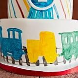 Watercolor Train Boy's Birthday Party