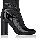 Barneys New York Patent-Leather Ankle Boots