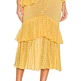 Song of Style Ada Midi Skirt in Baby Yellow