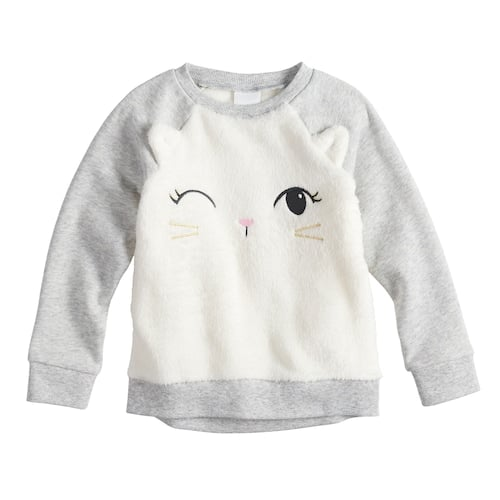 beffd1b6c Jumping Beans Plush Cat Winking Raglan Sweatshirt | Best Clothes For ...
