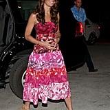 On Sunday Sept. 16, Kate wore a pink batik dress.