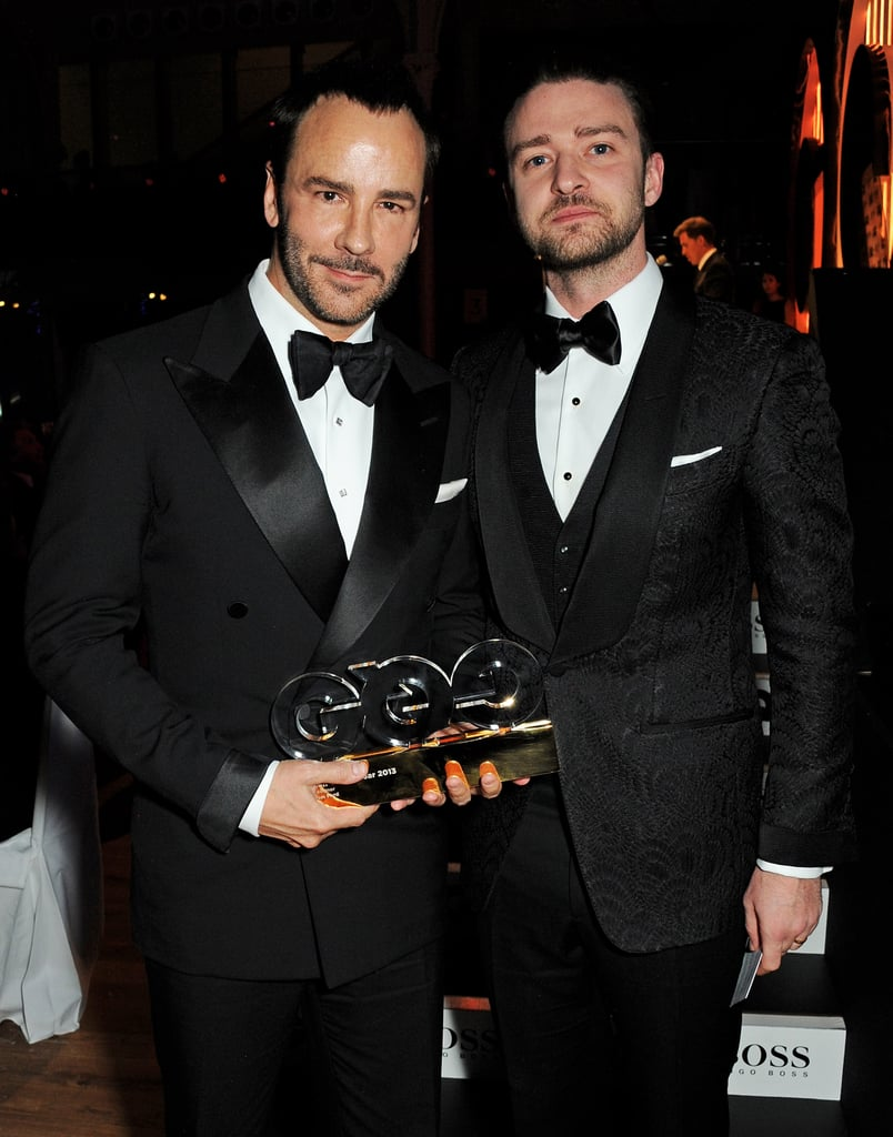 Justin Timberlake hit the stage again on Sept. 3, this time to present his friend Tom Ford with an award at the GQ Men of the Year Awards.