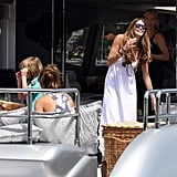 Elle Macpherson Wears Her Winter White Bikini on a Yacht in Sydney!