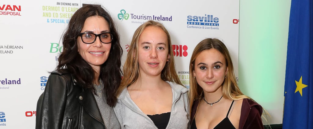 Courteney Cox and Daughter Coco at Ed Sheeran Concert 2018