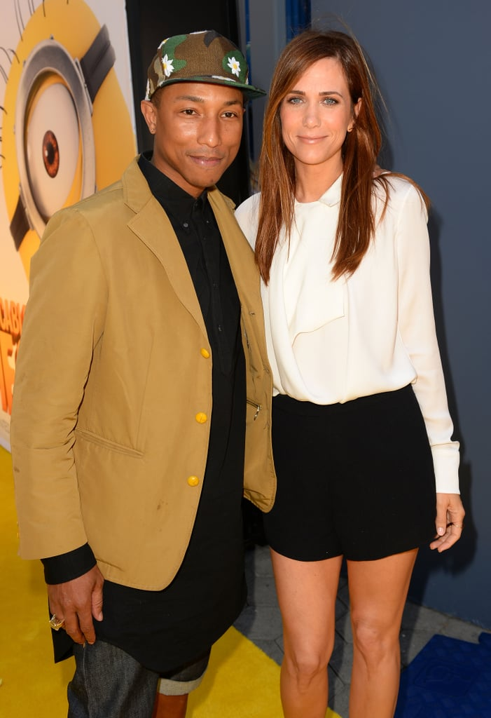 Pharrell Williams and Kristen Wiig made an unlikely pair at the premiere of Despicable Me 2 in LA on June 22.